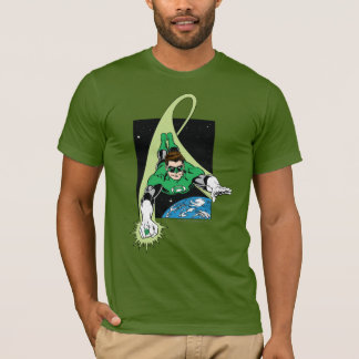 Camiseta Lanterna e terra verdes