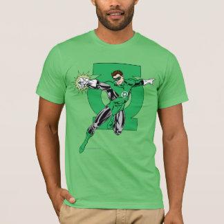 Camiseta Lanterna verde com fundo do logotipo