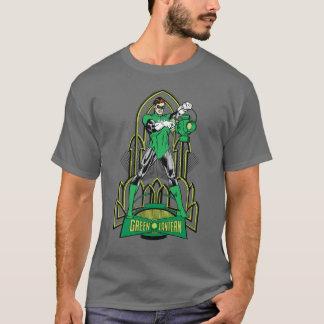 Camiseta Lanterna verde no fundo decorativo