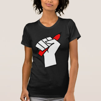 Camiseta Lápis da liberdade de expressão no punho