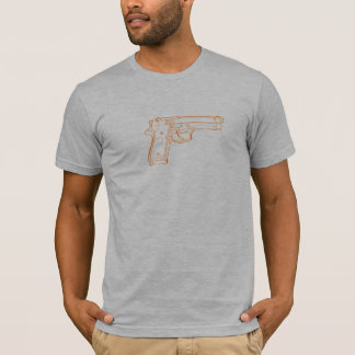 Camiseta laranja 9mm