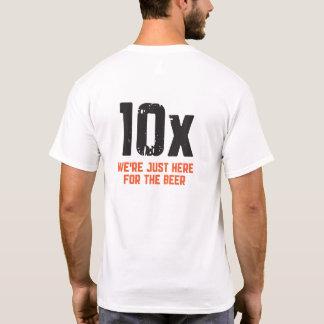 Camiseta Laranja brutal do pelotão 10X no TShirt branco