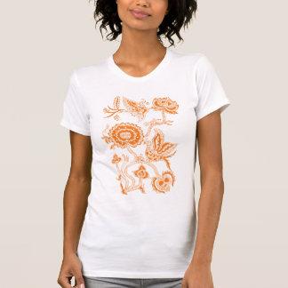 Camiseta LARANJA chinesa do Batik