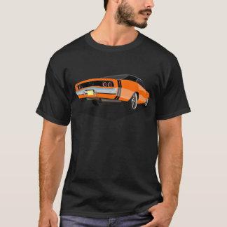 """Camiseta Laranja com o carregador das listras pretas """"68"""