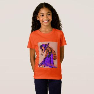 Camiseta Laranja do jérsei das meninas