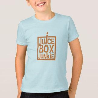 Camiseta Laranja do toxicómano da caixa do suco