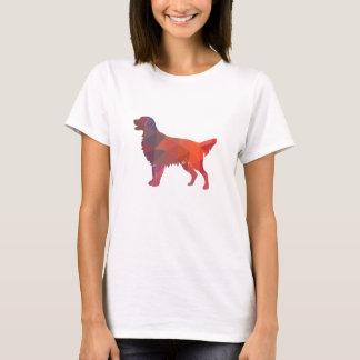 Camiseta Laranja geométrica da silhueta do Retriever