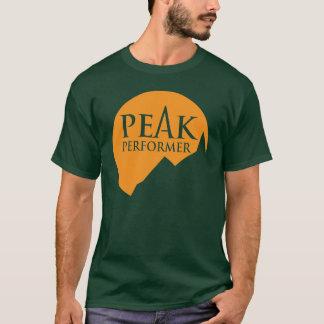 Camiseta Laranja máxima do logotipo dos homens do executor