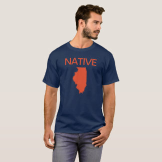 Camiseta Laranja nativa do marinho de Illinois