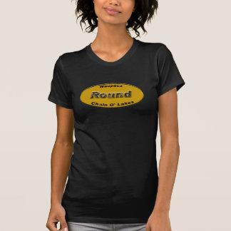 Camiseta Laranja redonda da matrícula