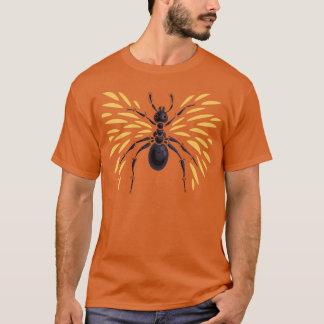 Camiseta Laranja voada da formiga impetuosamente