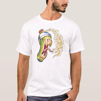 Camiseta lata de pulverizador do demónio