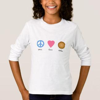 Camiseta Latkes do amor da paz