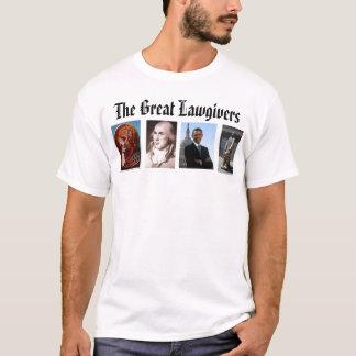 Camiseta lawgiver, James Madison, ícone Moses e o