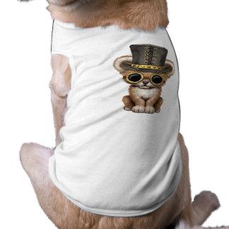 Camiseta Leão bonito Cub do bebê de Steampunk
