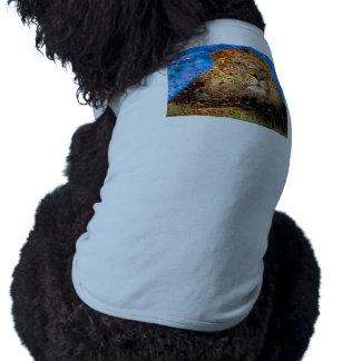 Camiseta leão - colagem do leão - mosaico do leão - leão