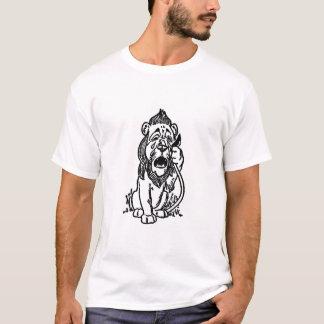 Camiseta Leão Cowardly - Tshirt de mágico de Oz - grito