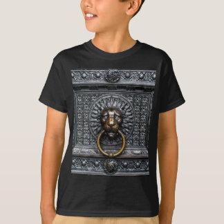 Camiseta Leão de Doorknocker - preto/ouro