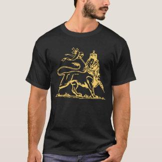 Camiseta Leão etíope da parte traseira de Judah/cruz sobre