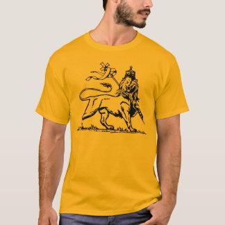 Camiseta Leão etíope de Judah com da cruz parte traseira