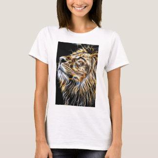 Camiseta Leão Fractalius de incandescência principal