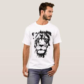 Camiseta Leão preto e branco do impressão do t-shirt