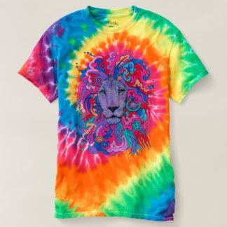 Camiseta Leão psicadélico roxo