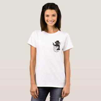 Camiseta Lebreiro de Pugsy o Pug de Gangsta do bolso