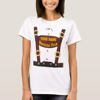 Camiseta Lederhosen que bebem o t-shirt da equipe