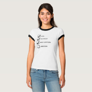 Camiseta Legal, amigável, bonito e irritante? t-shirt
