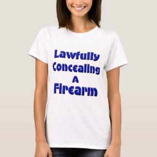 Camiseta Legal escondendo uma arma de fogo