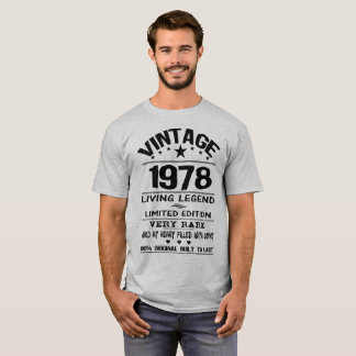 Camiseta LEGENDA do VINTAGE 1978-LIVING