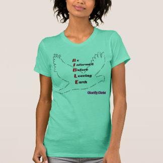 Camiseta Leia a bíblia antes da terra com pomba