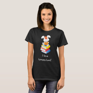 Camiseta Leitura bonito do coelho de Homeschool