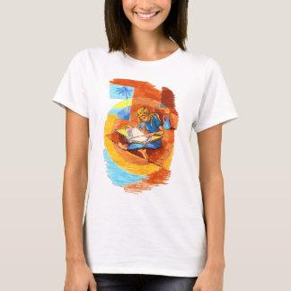 Camiseta Leitura da mulher artística