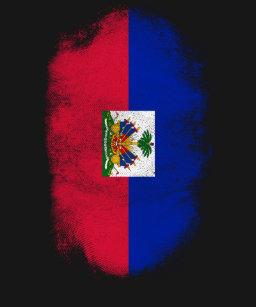 e01e71ed16 Camiseta Lembrança da bandeira de Haiti - design haitiano