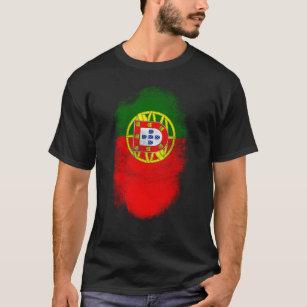 3961eac24e Camiseta Lembrança da bandeira de Portugal - português