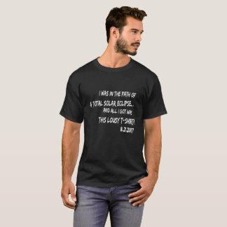Camiseta Lembrança do eclipse! tudo que eu obtive era este