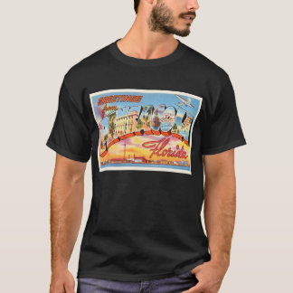 Camiseta Lembrança velha das viagens vintage de Pensacola