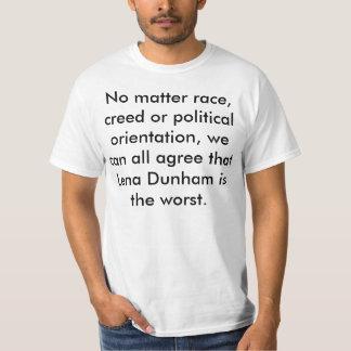 Camiseta Lena Dunham é o mais mau