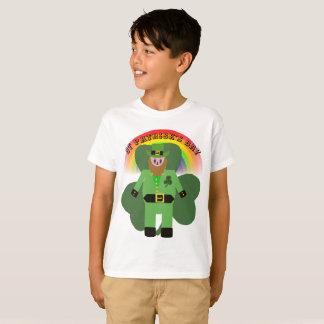 Camiseta Leprechaun do Dia de São Patrício dos meninos