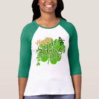 Camiseta Leprechaun feliz do dia de Patrick de santo