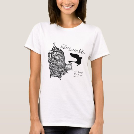 Camiseta let birds fly free