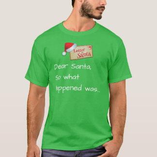 Camiseta Letra ao papai noel