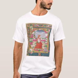 """Camiseta Letra """"E"""" de Historiated com figura do rei"""