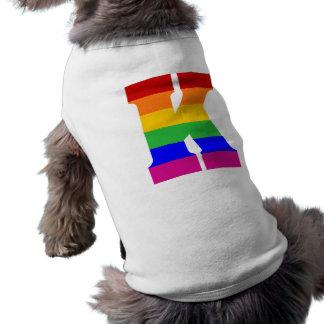 Camiseta Letra K do arco-íris