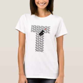 Camiseta Letra T da tuba