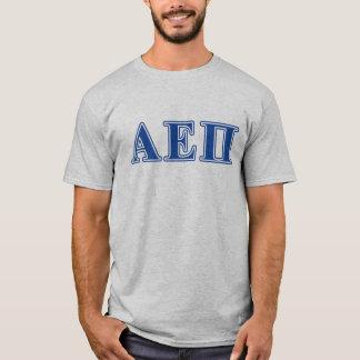 Camiseta Letras alfa do azul do Pi do épsilon