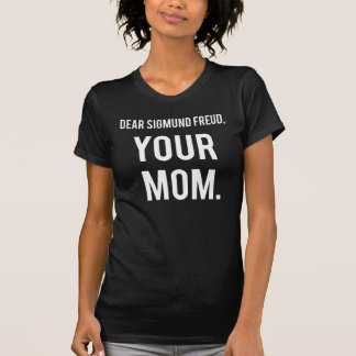 Camiseta Letras às pessoas inoperantes: Sigmund Freud