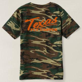 Camiseta Letras da laranja do T do rodízio CAMO da mosca de